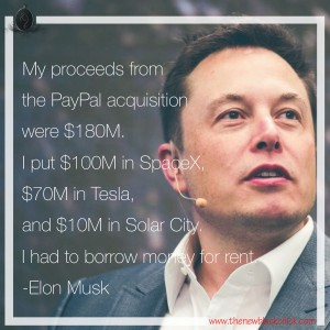 Elon Musk borrow rent money